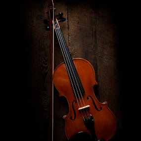 by Mike Ritchie - Artistic Objects Musical Instruments ( music, violin, wood, strings, object, bow )