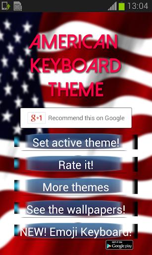 アメリカのキーボードのテーマ
