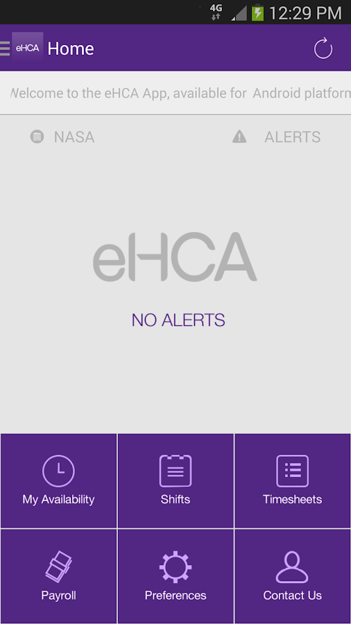 eHCA - screenshot