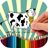 Coloring Book Farm Animals