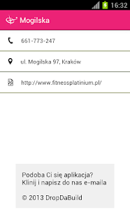 Fitness Platinium Schedule - screenshot thumbnail
