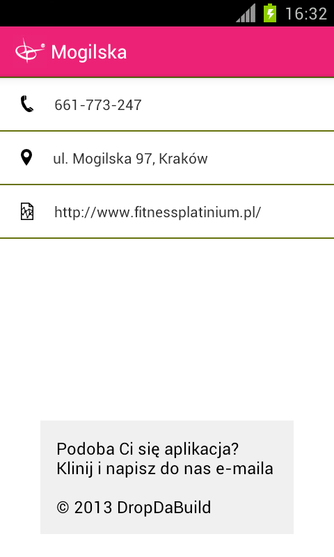 Fitness Platinium Schedule - screenshot