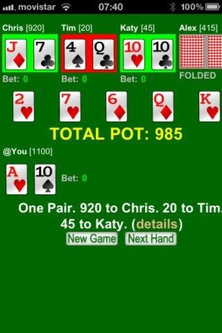 Fast Texas Hold Em Poker BAnet- screenshot