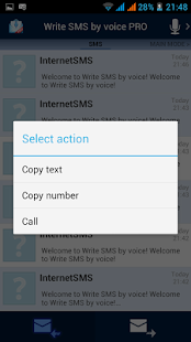 Write SMS by voice PRO - screenshot thumbnail