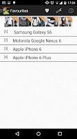 Screenshot of Smartphone Comparison