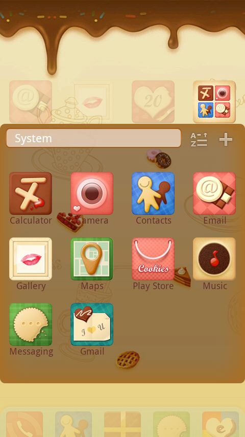 Sweet GO Launcher Theme - screenshot