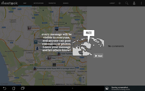 Meetook - social map - screenshot thumbnail