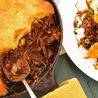 The Best Tamale Pie with Braised Skirt Steak, Charred Corn, and Brown Butter Cornbread Crust Recipe