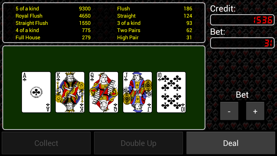 Video Poker- screenshot