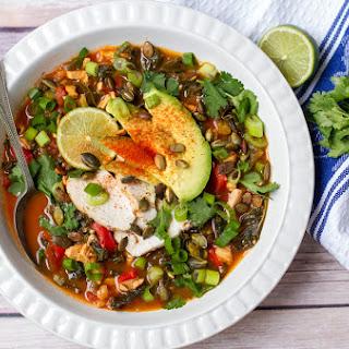 Kale & Chicken Tortilla Soup (Minus the Tortillas) Recipe