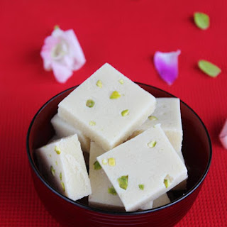 Badam Burfi Recipe (no Milk, No Ghee)