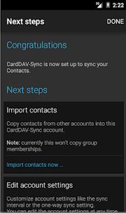 CardDAV-Sync - screenshot thumbnail