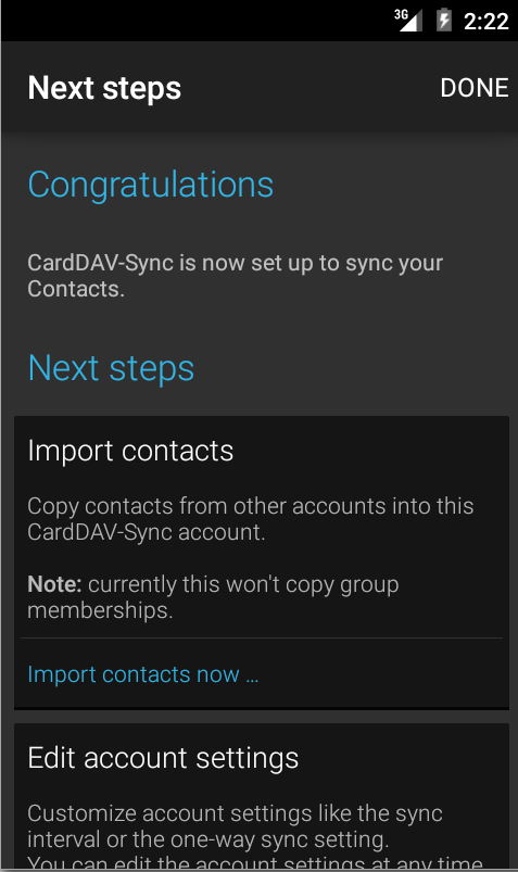 CardDAV-Sync - screenshot