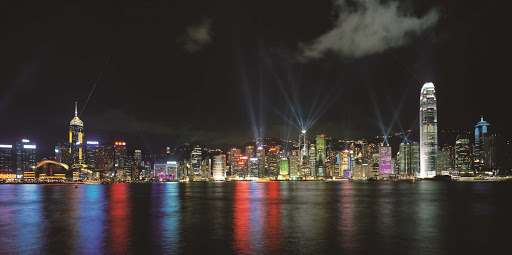 Hong-Kong-Symphony-of-Lights - The Symphony of Lights on Victoria Bay, Hong Kong.
