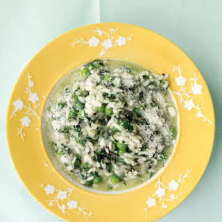 Spinach Risotto with Peas.