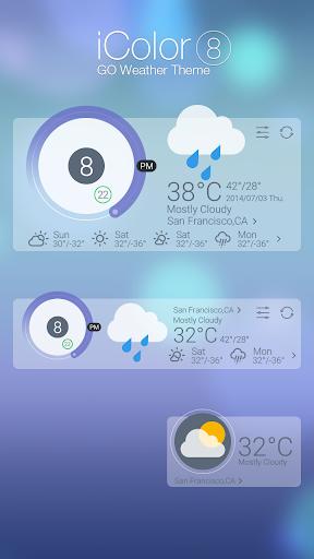 【免費個人化App】ICOLOR8 THEME GO WEATHER EX-APP點子
