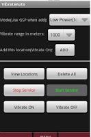 Screenshot of Vibrate Auto