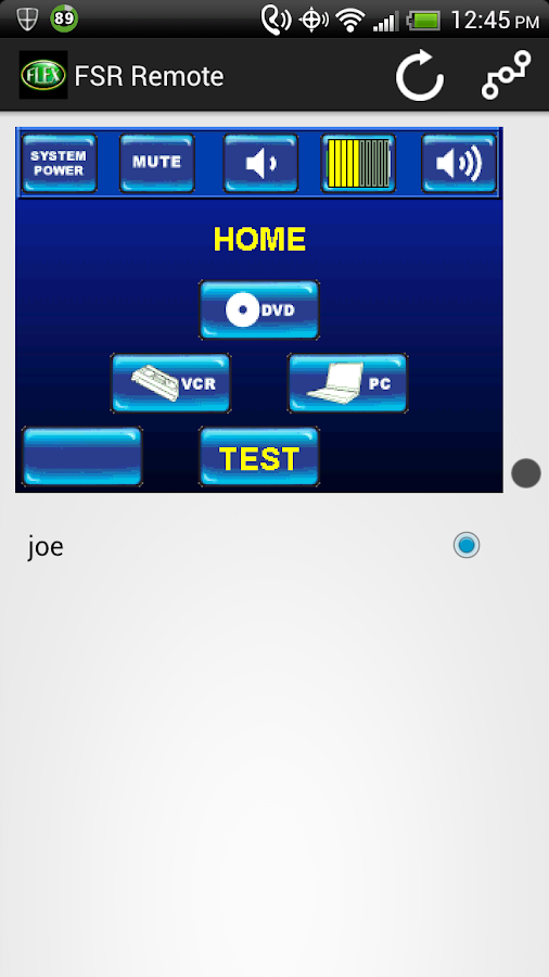 Flex Remote - screenshot