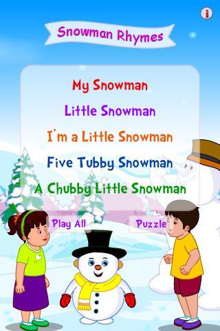Snowman Rhymes
