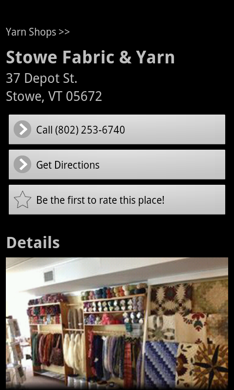 yarnplaces find yarn shops android apps on google play. Black Bedroom Furniture Sets. Home Design Ideas