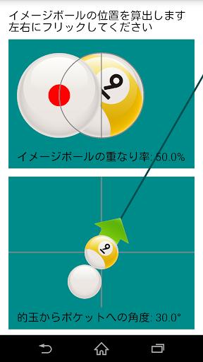 ビリヤード角度計算