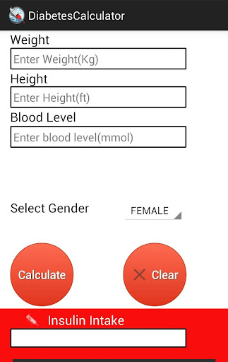 Diabetes Calculator