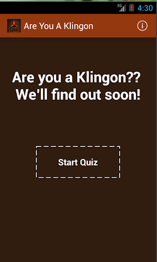 Are You A Klingon
