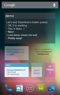 StyleNote Notes & Memos- screenshot thumbnail