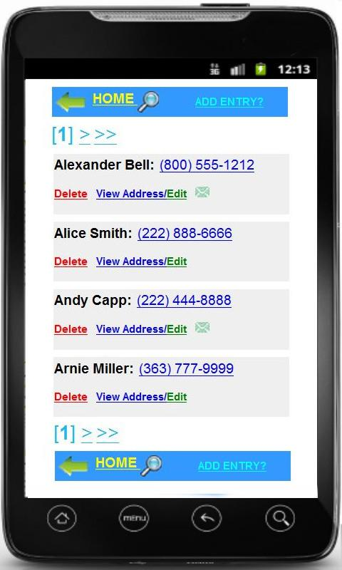 Phonebook + Backup Contacts - screenshot