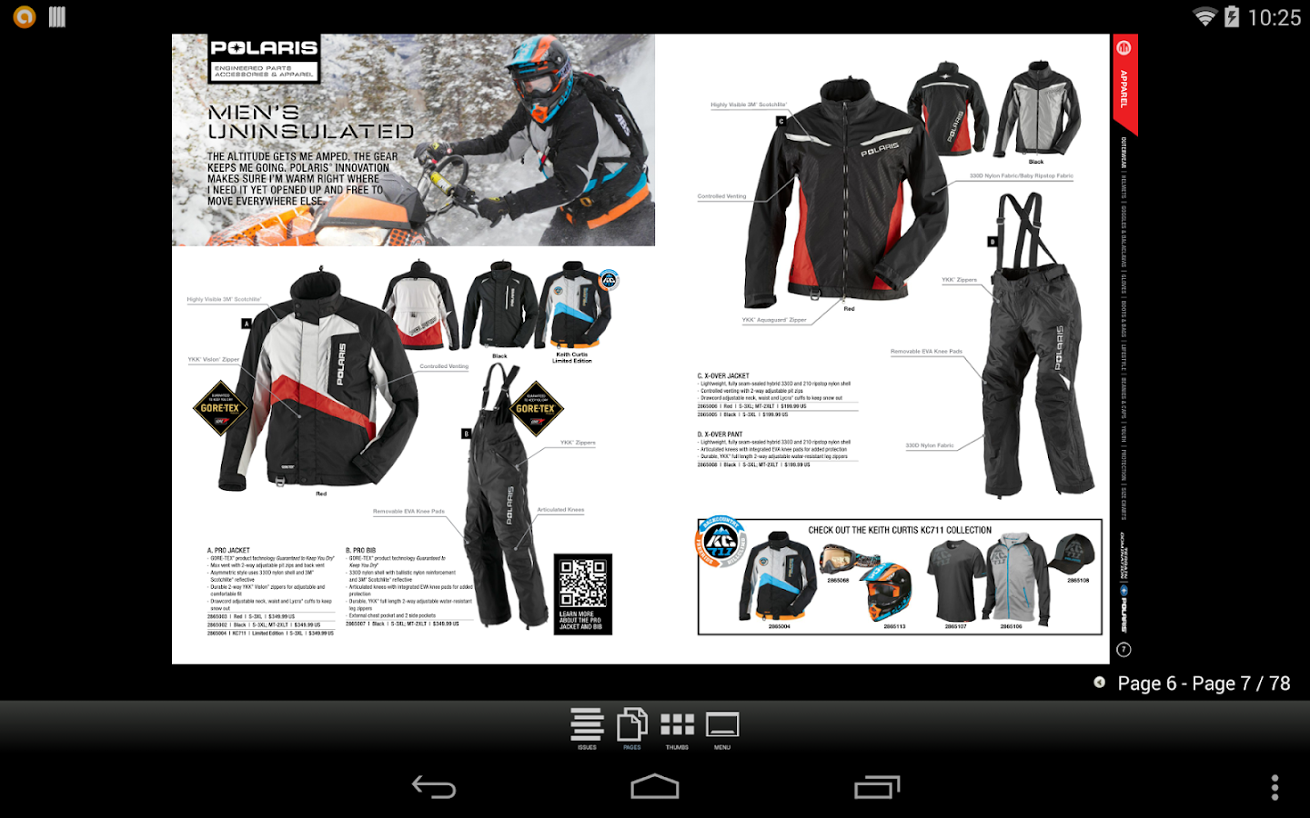 Polaris Snow Catalogs US - screenshot