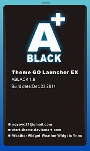 ABLACK Theme GO Launcher EX - screenshot thumbnail