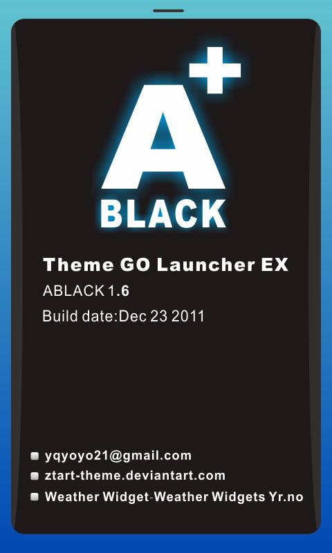 ABLACK Theme GO Launcher EX - screenshot