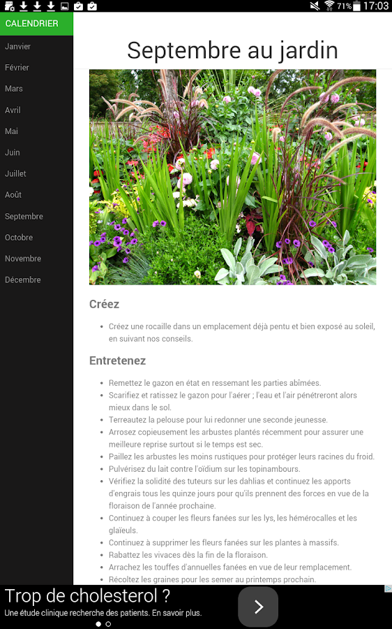 Calendrier du jardin applications android sur google play for Calendrier du jardin