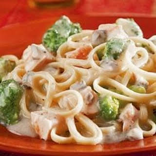 Chicken and Broccoli Alfredo.