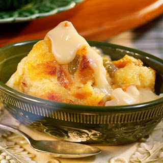 Bread Pudding with Vanilla Sauce.