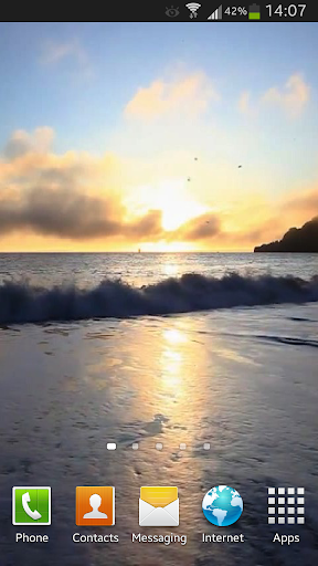 Ocean Waves at Sunset Live HD