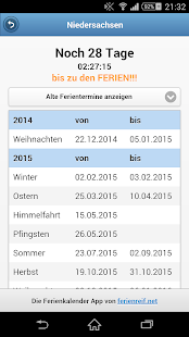 Ferienkalender Countdown- screenshot thumbnail