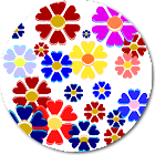 Summer flowers icon
