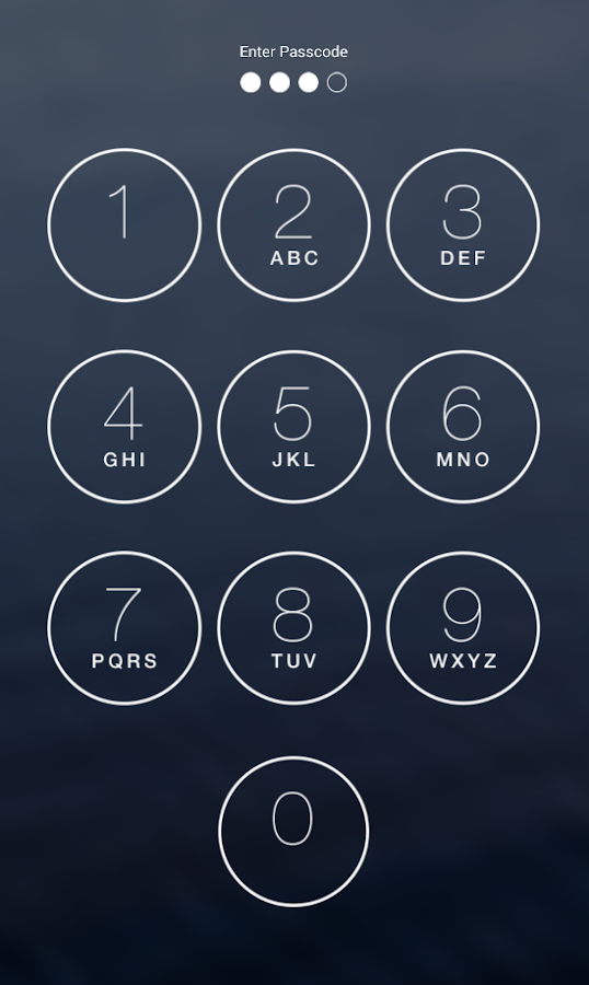 Keypad Lock Screen Screenshot