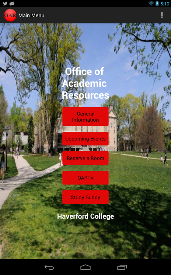 Haverford OAR - screenshot