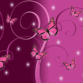 Pink Butterfly GO Launcher EX