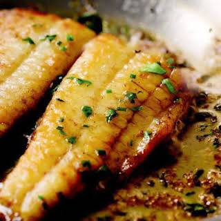 Flounder with Lemon-Butter Sauce.