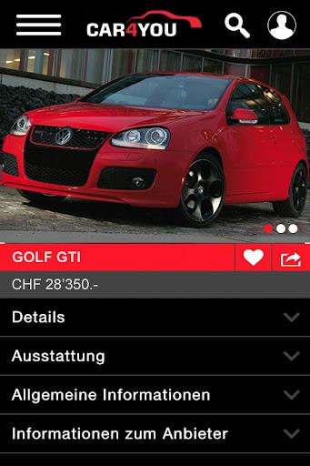 car4you.ch - Das Auto Portal