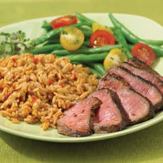 Chili-rubbed Steak.