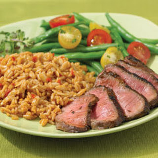 Chili-rubbed Steak.