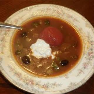 Solianka or Russian Beef Soup.