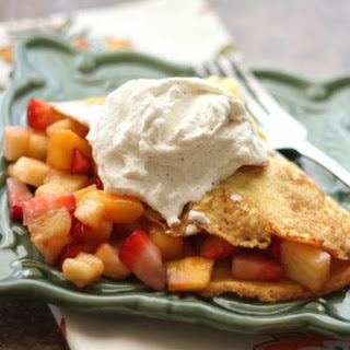 Strawberry Pineapple Crepes with Cardamom Cream