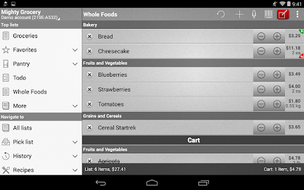 Mighty Grocery Shopping List Screenshot 14