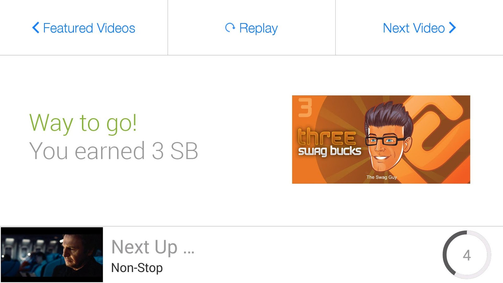 SwagBucks TV Mobile - screenshot