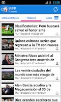 Screenshot of Perú Noticias